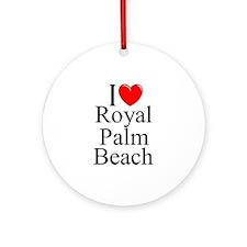 """I Love Royal Palm Beach"" Ornament (Round)"