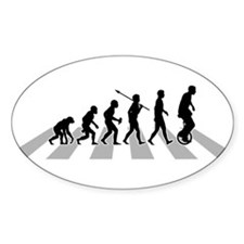 Cute Evolution of woman Decal