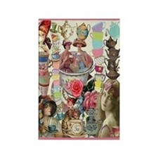 Ladies' Tea Rectangle Magnet Magnets