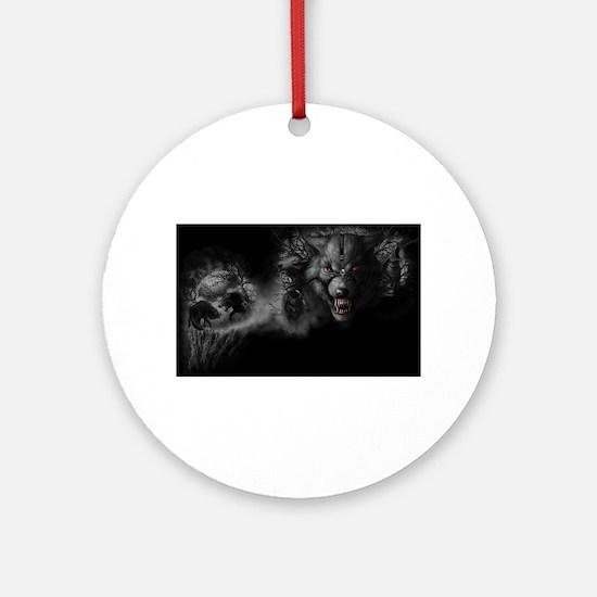 werewolf Ornament (Round)