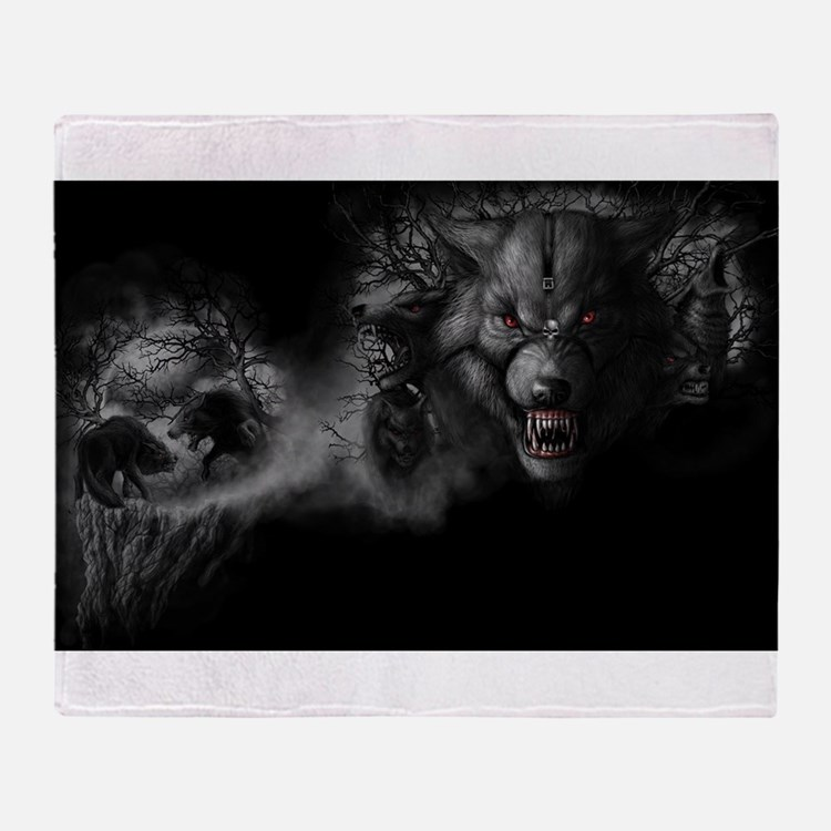 werewolf Throw Blanket