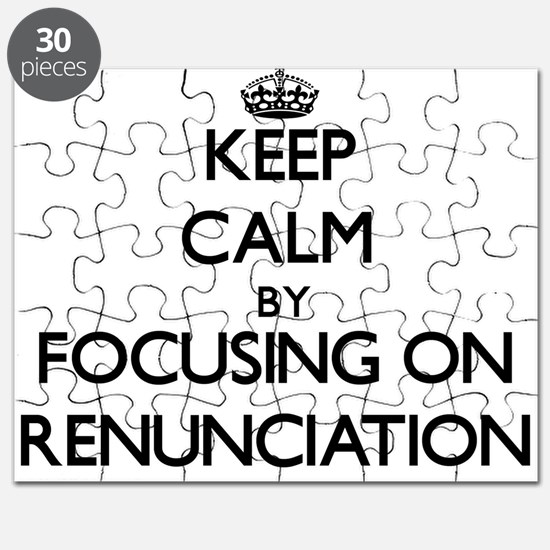 Keep Calm by focusing on Renunciation Puzzle