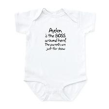 Ayden is the Boss Infant Bodysuit