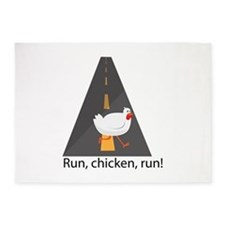Run, Chicken, Run! 5'x7'Area Rug