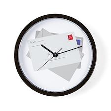 Postal Letter Wall Clock