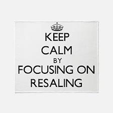 Keep Calm by focusing on Resaling Throw Blanket