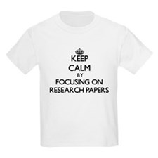 Keep Calm by focusing on Research Papers T-Shirt