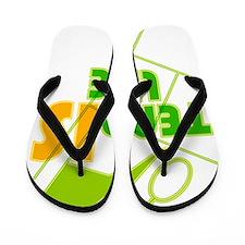 TENNIS_LIFE Flip Flops