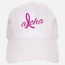 Pink Ribbon Hibiscus Aloha Baseball Baseball Cap