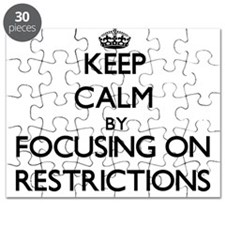 Keep Calm by focusing on Restrictions Puzzle