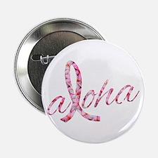 "Pink Ribbon Plumeria Flower 2.25"" Button (10 pack)"