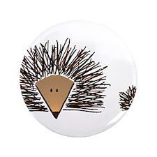 """A01 Hedgehogs.JPG 3.5"""" Button"""