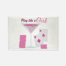 Play Like A Girl Magnets
