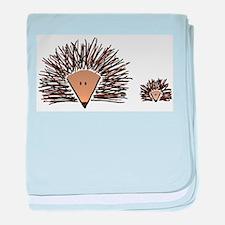 A01 Hedgehogs.JPG baby blanket