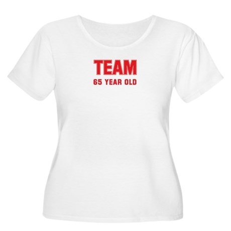 Team 65 YEAR OLD Women's Plus Size Scoop Neck T-Sh