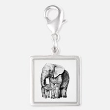 Drawn Elephant Charms