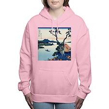 Lake Suwa by Hokusai Women's Hooded Sweatshirt