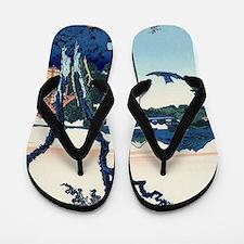 Lake Suwa by Hokusai Flip Flops