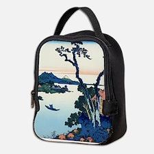 Lake Suwa by Hokusai Neoprene Lunch Bag