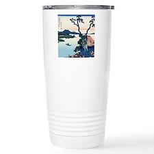 Lake Suwa by Hokusai Travel Mug
