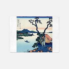 Lake Suwa by Hokusai 5'x7'Area Rug