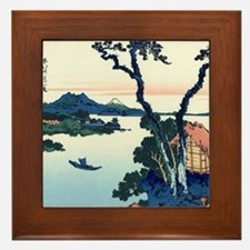 Lake Suwa by Hokusai Framed Tile