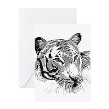 Drawn Tiger Greeting Cards