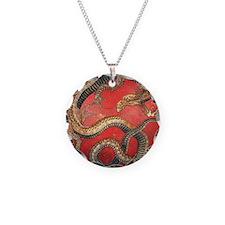 Hokusai Dragon Necklace