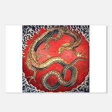Hokusai Dragon Postcards (Package of 8)