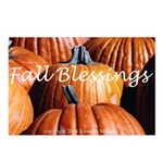 Fall Blessings Pumpkin Postcards (Package of 8)