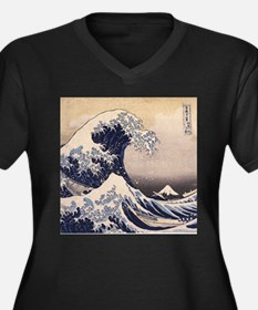 Great Wave by Hokusai Plus Size T-Shirt