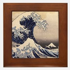 Great Wave by Hokusai Framed Tile