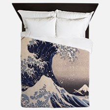 Great Wave by Hokusai Queen Duvet