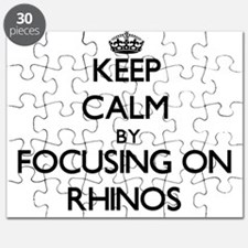 Keep Calm by focusing on Rhinos Puzzle