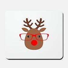 Hipster Reindeer Mousepad