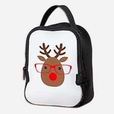 Hipster Reindeer Neoprene Lunch Bag