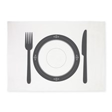 Dinner Place Setting 5'x7'Area Rug