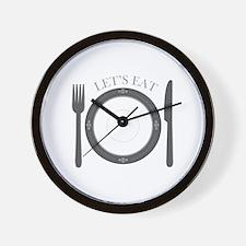 Lets Eat Wall Clock