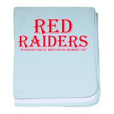 Red Raiders baby blanket