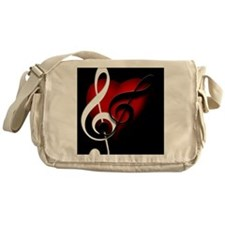 HeartandClefs.jpg Messenger Bag