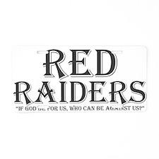 Red Raiders Aluminum License Plate