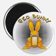 Geo Bunny Orange Text Magnets