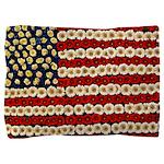 Flower Power US Banner Pillow Sham