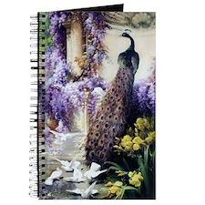Bidau Peacock, Doves, Wisteria Journal