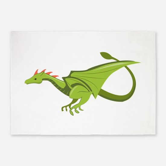 Green Dragon 5'x7'Area Rug