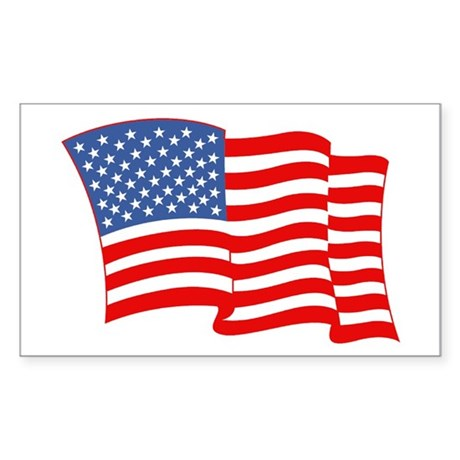 American Flag 4th Of July Rectangle Sticker