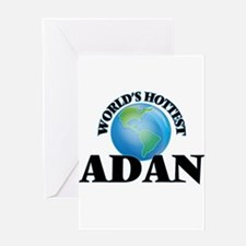 World's Hottest Adan Greeting Cards