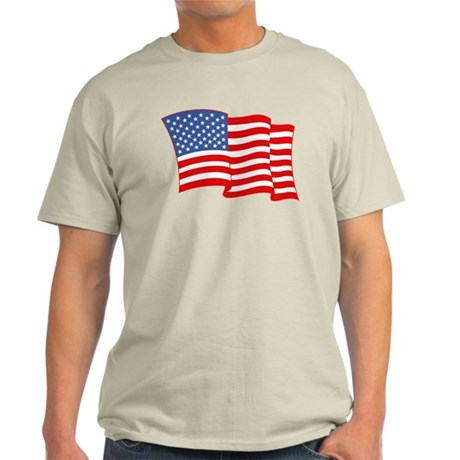 American Flag 4th Of July Light T-Shirt