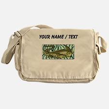 Custom Green Oar Fish Messenger Bag