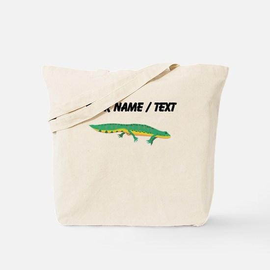 Custom Green Newt Tote Bag